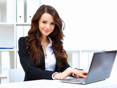 Woman Accountant on Computer